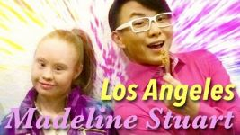 Madeline Stuart in Los Angeles with Onch