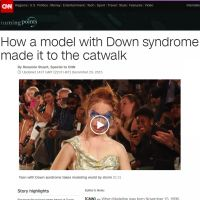 How a Down Syndrome Model Made it to the Catwalk - CNN