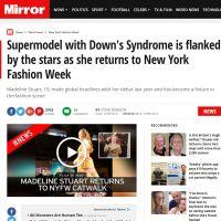 Supermodel With Down's Syndrome is Flanked By the Stars As She Returns to New York Fashion Week - Daily Mirror