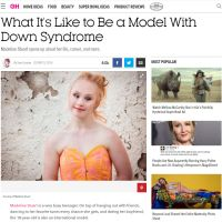 What It's Like to Be a Model With Down Syndrome - Good Housekeeping