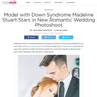 Model With Down Syndrome Madeline Stuart Stars in New Romantic Wedding Photoshoot - People