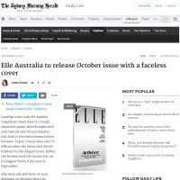 Elle Australia to Release October Issue With a Faceless Cover - SMH