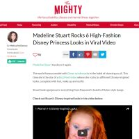 Madeline Stuart Rock 6 High-Fashion Disney Princess Looks in Viral Video - The Mighty