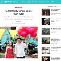 Model Maddy's More In Love Than Ever! - Woman's Day